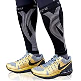 Calf Compression Sleeve Men Compression Sleeves for Legs Women Leg Sleeves for Men Football Muscle Recovery Varicose Veins Treatment for Legs Shin Splints Leg Pain Relief Support Black S-M