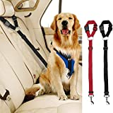 Car Dog Seat Belts, 2 Pack Car Headrest Restraint Adjustable Safety Leads Vehicle Seatbelt Harness for Pets Cats Dogs