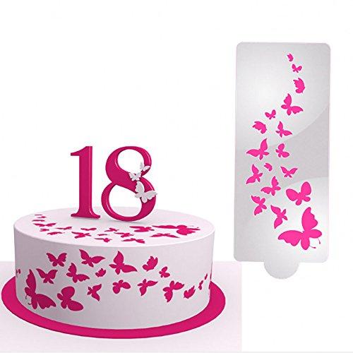 TheRang 1Pcs DIY Birthday Cake Spray Mold Decorating Print Sugar Sieve Sugar Craft Model