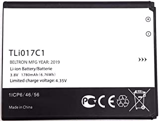 New 1780 mAh TLi017C1 BELTRON Replacement Battery for Alcatel GreatCall Jitterbug Flip Phone, Dawn 5027B (Boost Mobile/Virgin Mobile), Ideal 4060A (AT&T), Streak 4060O (Cricket)