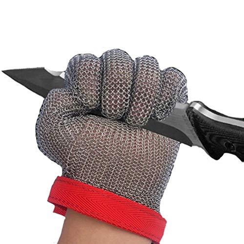 Schnittfeste Handschuhe-XHZ Einzelne Handschuhe aus Edelstahl 304, Küche, Metzger, Schweißen, Arbeitshandschuhe zum Töten von Fischen. Grau, Größe: XXS - XL (Size : Xx-small)
