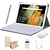 Android 10 Tablets 10 Inch 4G Tablet PC 4GB RAM 64GB ROM Dual SIM Card 8000mAh Battery Quad Core Unlocked Tablets Bluetooth,Wifi,GPS,GMS Certification(Gold)