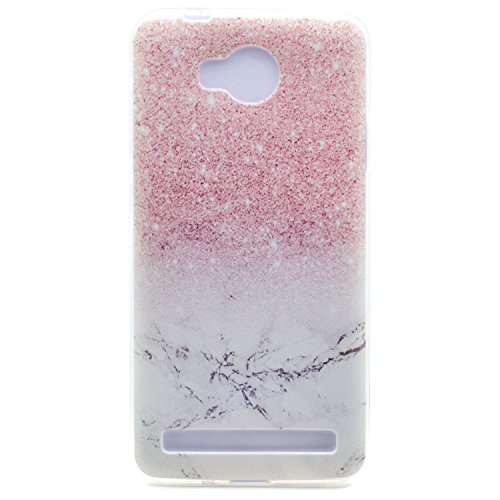 Huawei Y3 II / Y3 2 Hülle, Transparent Weiche TPU Silikon Handyhülle Feder Muster Hülle [Crystal Klar] TPU Bumper Case Schutzhülle für Huawei Y3 II/Huawei Y3 2 - Marmor