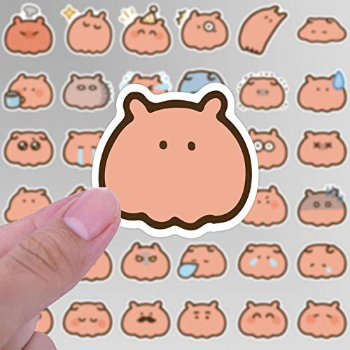DONGJI Mini Conejo de Dibujos Animados Etiqueta de la Cuenta de la Mano del teléfono móvil Cubierta del Inodoro Pluma estilográfica papelería Etiqueta engomada del Regalo de los niños 40 unids