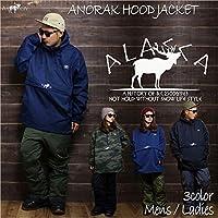 ALASCA 2018-19 ANORAK HOOD JACKET アラスカ スノーボード フードジャケット moose ウェア ジャケット スノボ スキー メンズ レディース (1.Black, L)