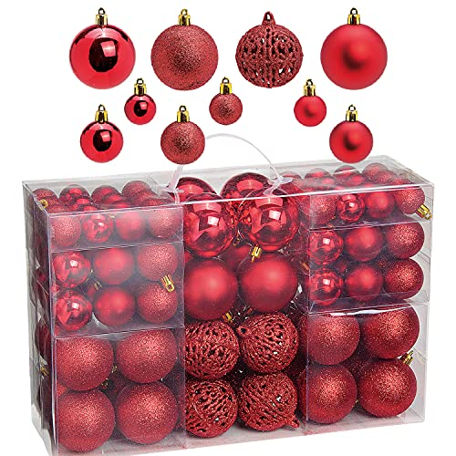 Weihnachtsbaum Deko, 100-teilig, rot