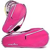 Athletico 3 Tennisschlägertasche | Gepolstert zum Schutz von Rackets & Lightweight | Tennisprofi oder Tennisanfänger | Unisex-Design für Männer, Frauen, Jugendliche und Erwachsene (Pink)