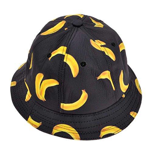 ZLYC Casquette de pêcheur d'extérieur pour Homme/Femme (Unisexe) avec Design imprimé Funky d'une Banane