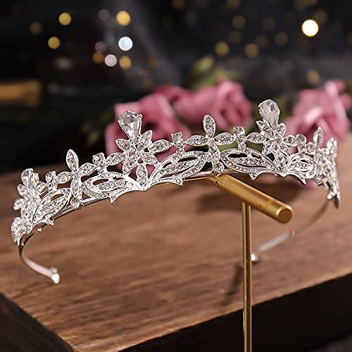 Elegante diadema de novia con brillantes y brillantes, ideal como regalo para las mujeres