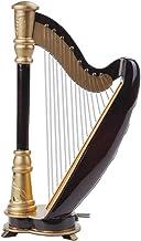 PUNK 1:12 Scale Miniature Instrument Music Case Stand Miniature Musical Instrument (Harp:8x14x4.5cm)