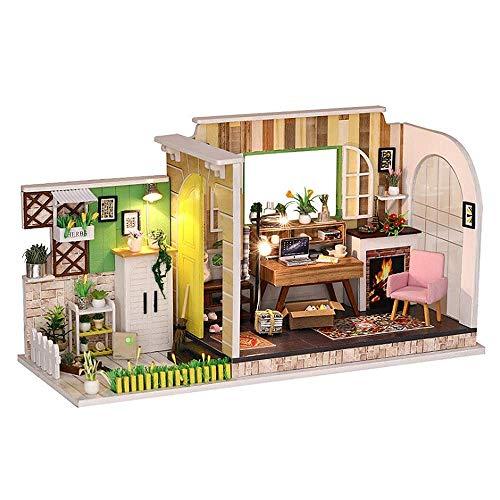 NDYD Casa de Madera Montaje Juguetes, Muñeca Casa Miniatura DIY Cottage Gotemburgo Estudio Hecho A Mano Casa Modelo 3D Decoraciones De Juguete Creativo Regalo DSB