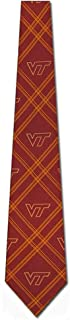 Virginia Tech Hokies NCAA College Sports Plaid Mens Neck Tie