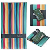 Rainleaf Microfiber Beach Towel Compact Travel Towel Fast Drying Swimming Towel Lightweight Sports Towel Pool Towel,Super Absorbent - Ultra Compact. Rainbow,40x 70 inches