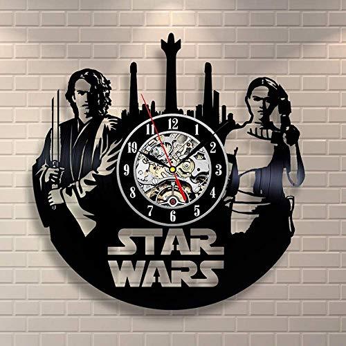 LKCAK Star Wars Anakin y Amidala Vinyl Vinyl Vinyl Record Reloj de...