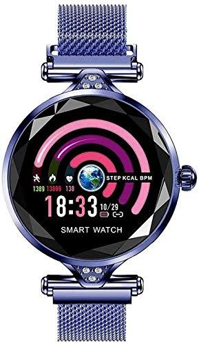 Reloj Inteligente Dispositivo Usable Bluetooth Podómetro Monitor de Ritmo Cardíaco para Android/iOS Pulsera Inteligente Uso Diario-C-C