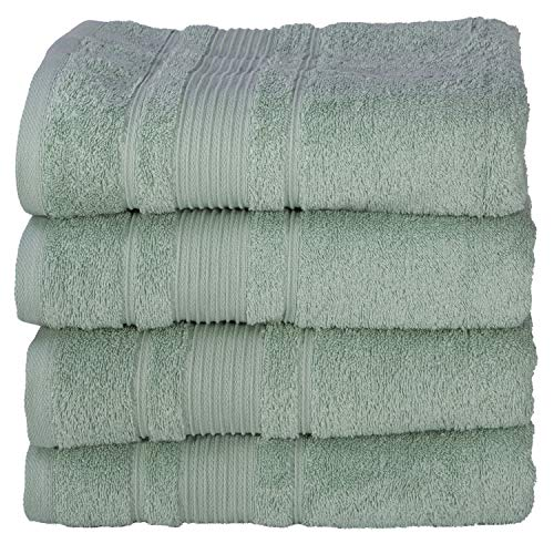 All Design Towels 4 Pack Bath Towels Set Premium Quality | Thirsty Absorbent Soft & Plush Turkish Cotton - Teal Green