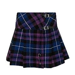 Tartanista Womens 16.5 Inch Scottish Tartan Mini Kilt Skirt Honour Of Scotland 12 UK