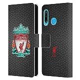 Head Case Designs Officiel Liverpool Football Club Noir Pixel 1 Crête 2 Coque en Cuir PU à...