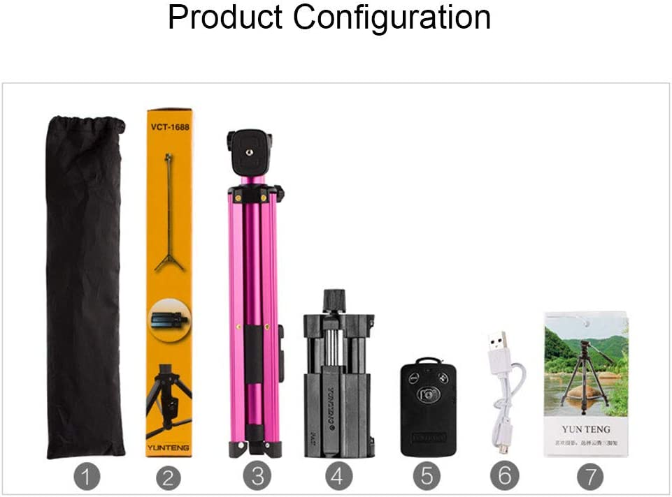 LDD OUTDOOR Selfie Stick Tripod Bluetooth Selfie Stick with Remote Control Extension-Type for iPhone Xs//X//iPhone 8//8 Plus//iPhone 7//7 Plus Galaxy S9//S8,Purple