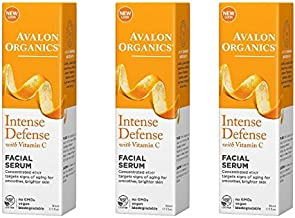 Avalon Organics Vitamin C Renewal Vitality Facial Serum, 1 Ounce (Pack of 3)