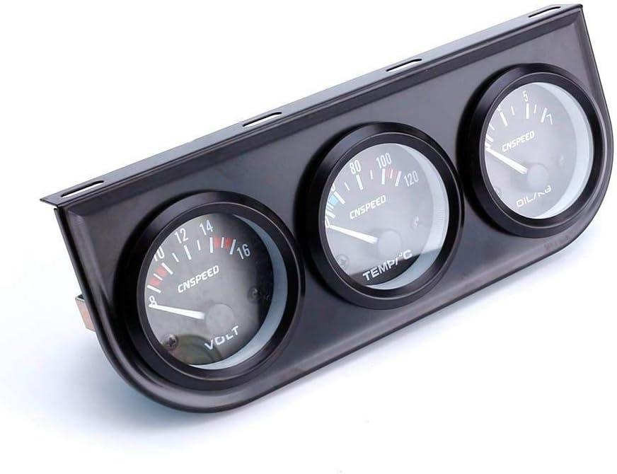 Tacómetro Coche,Modificación del medidor de combinación de automóvil/voltímetro/medidor de temperatura del agua/medidor de presión de aceite/sensor de accesorios de instrumentos de carreras