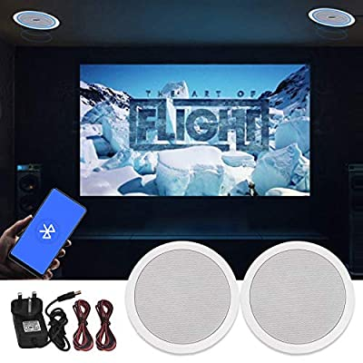 Bluetooth Ceiling Speakers, Wireless Bluetooth Amplifier 2 X 5 inch ceiling Speakers for Home, Kitchen and bedroom by MIFIRE