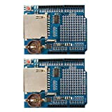 Ximimark 2PCS Data Logger Module Logging Shield Data Recorder DS1307 for Arduino UNO SD Card
