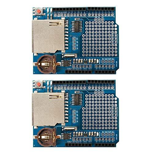 Ximimark DS1307 - Módulo de Registro de Datos para Tarjeta SD Arduino UNO (2 Unidades)