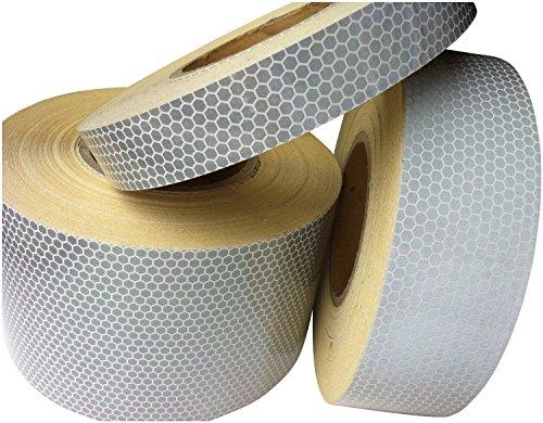 Tuqiang® Hoch Intensives weiß Reflektierendes Klebeband 25mm x 2.5m 1PC