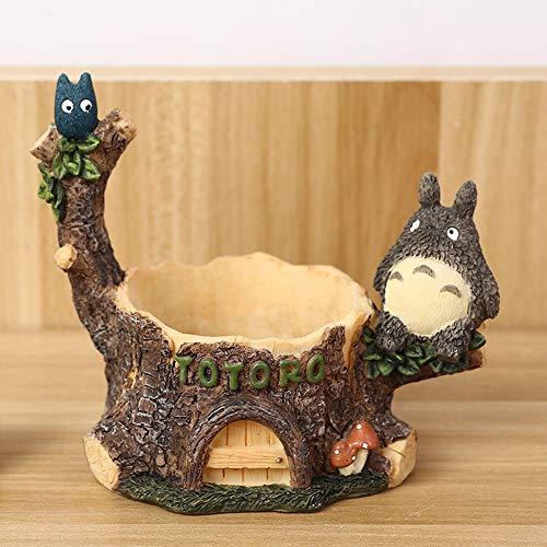 Rishx Creativa Totoro Tiesto Resina Maceta Plantas suculentas Planter Pot Mini Inicio decoración de jardín Bonsai Tiesto Escritorio Hace Decorativo