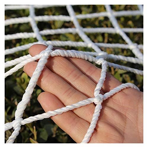 Ljw Rope Net Fence Safety Net Stair Protective Net Outdoor Climbing Cargo Net White Nylon Net Plant Pet Railing Garden Decoration (Size : 3x4m(10x13ft))