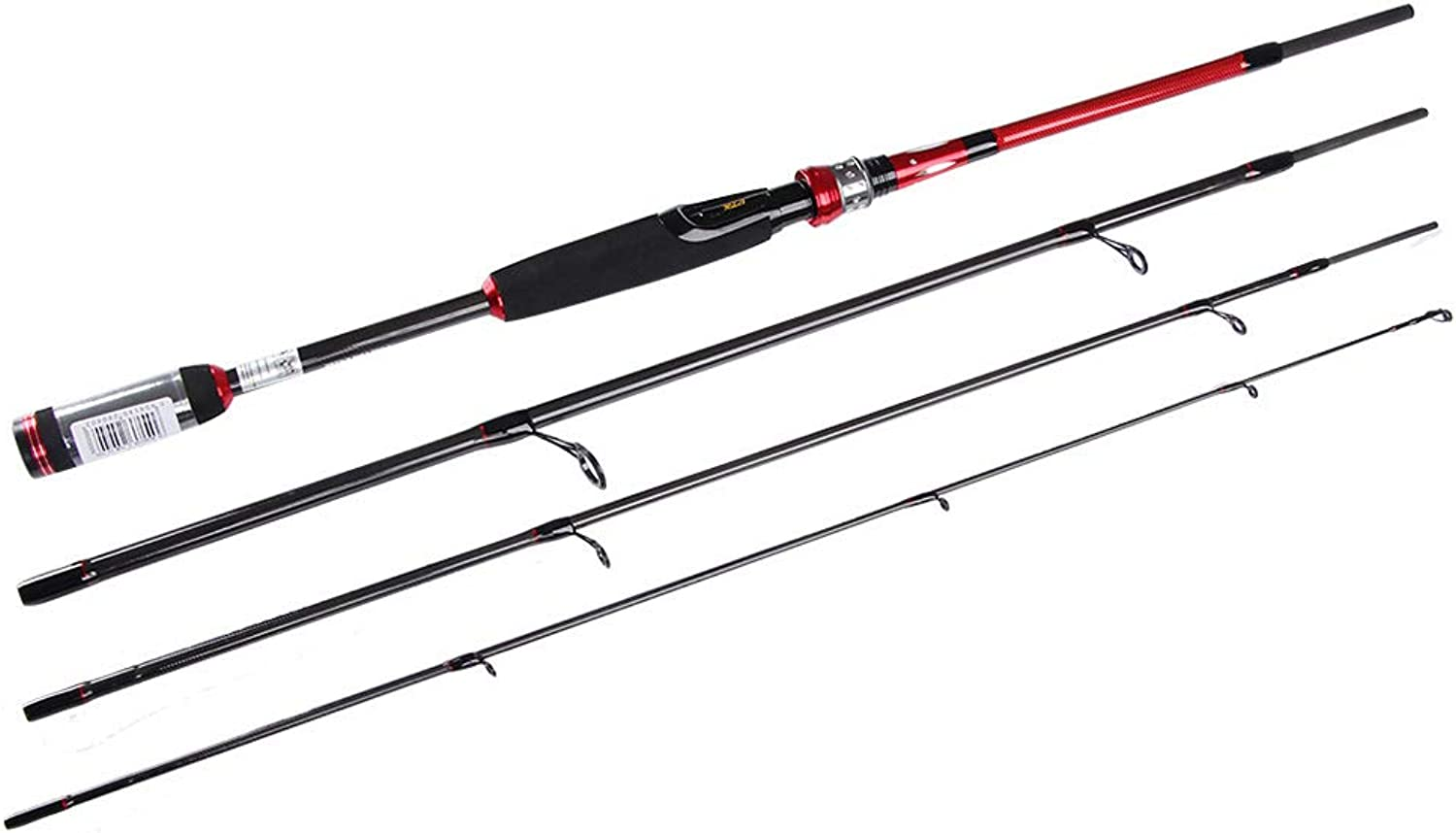Fishing Rod,Four Sections Carbon Lure Rod,Straight Shank Sea Fishing Rod, 2.1m, 2.4m, 2.7m
