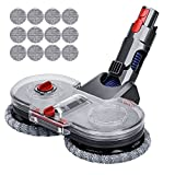 Jajadeal Electric Mop Head Attachments for Dyson V15 V7 V8 V10 V11 Cordless Stick Vacuum Cleaner Hardwood Floor Cleaner with 12 Mop Pads and 1 Water Tank