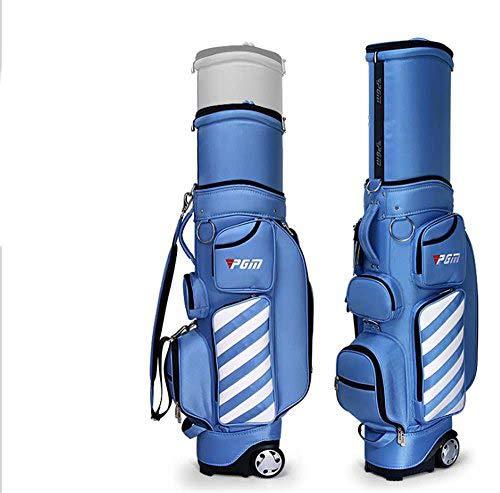 PGM Retractable Golf club Carry Bag Wheeled Golf Travel Bag Golf Cart...