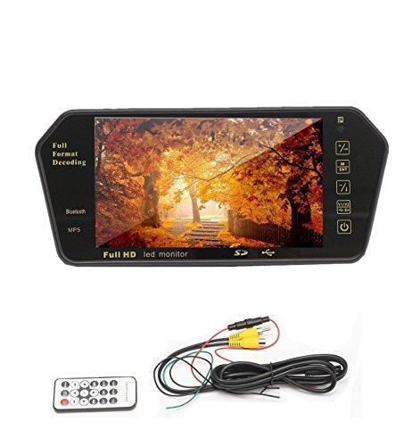 Topolenashop SPECCHIETTO RETROVISORE Monitor 7   Bluetooth USB SD TFT MP5