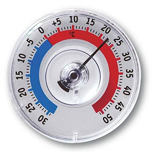 TFA Dostmann Twatcher Fensterthermometer, 14.6009.30, außen, wetterfest, hergestellt in Deutschland