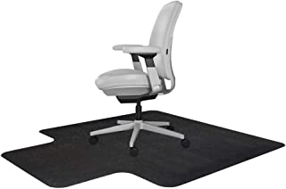 Resilia Office Desk Chair Mat with Lip – for Carpet (with Grippers) Black, 36 Inches x 48 Inches, Made in The USA