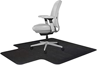 "Resilia Office Desk Chair Mat - for Carpet (with Grippers), Made in The USA 36"" x 48"" Black"