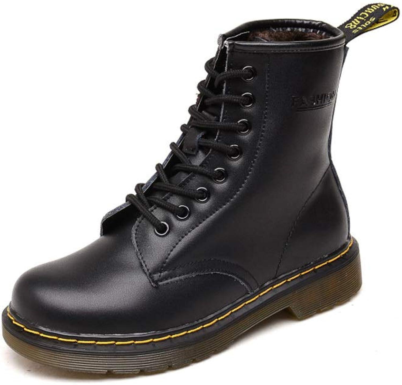 LXIANGP LXIANGP LXIANGP Damenstiefel, Kampfstiefel Lederstiefel hohe Schuhe niedrige Ferse Rutschfeste Abnutzung im Freien beiläufige Schuhe weibliche Paar Modelle (35EU-40EU)  33afb5