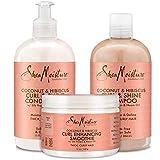 Shea Moisture Coconut & Hibiscus Curl TRIO: Includes Curl & Shine Shampoo, Curl & Shine CONDITIONER,...