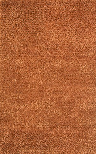 Noble House Spectra Area Rug 3-Feet 6-Inch x 5-Feet 6-Inch Brown