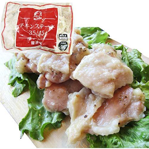 ジューシー チキンステーキ 1kg (25個入) しょうゆ味 鶏もも 冷凍 惣菜 肉 お弁当 レンジOK 《*冷凍便》