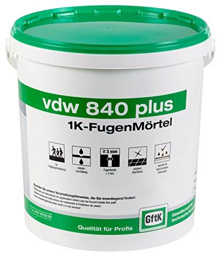 vdw840 plus 1K-Fugenmörtel 12,5 kg (Natur)
