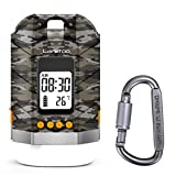 lanktoo Camping Lantern, Rechargeable Camping Lights for Tents and 15000mAh Power Bank with LCD Display, 4 Light Modes Water Resistant Dimmable Lamp for Hiking Fishing Emergency (Camouflage)