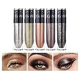 UCANBE 5 Colors Sparkle Liquid Eyeshadow Makeup Set Long Lasting Lightweight Metallic High Pigmented Glitter Eyeliner Shimmer Eye Shadow Stick Set #1