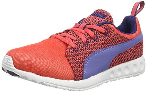 Puma Herren Carson Runner Knit Wn's Laufschuhe, Rot (cayenne-bleached denim-astral aura 02), 37 EU