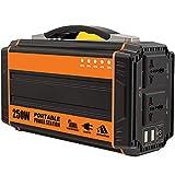 GXING Generatore di Corrente Inverter 220V 250W, Generatore di Solare Portatile 64500mAh, Caricato da Pannello Solare/Presa A Muro per Campeggio Esterna di Backup di Emergenza