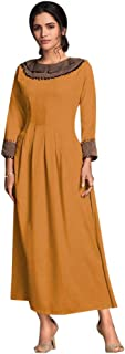 Designer Evening Party Cocktail wear Heavy Rayon Long Kurti for Women Indian Formal dress 8145