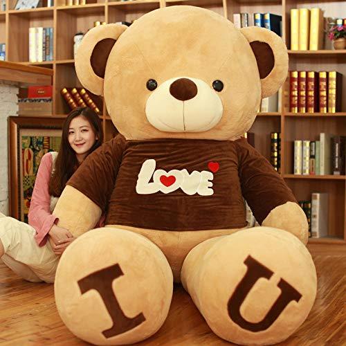 Pluche Sweater Teddy Bear Big Bear I Loveu Knuffel Doll Hug Bear Ragdoll-brown Sweater Bear_180cm