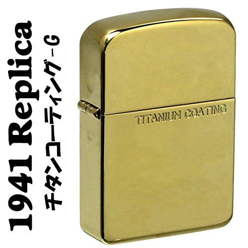 【ZIPPO】 ジッポーライター オイル ライター 1941年レプリカ(復刻版) チタニウムコーティング G 1941TC-G